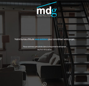 Site de MDG Construction